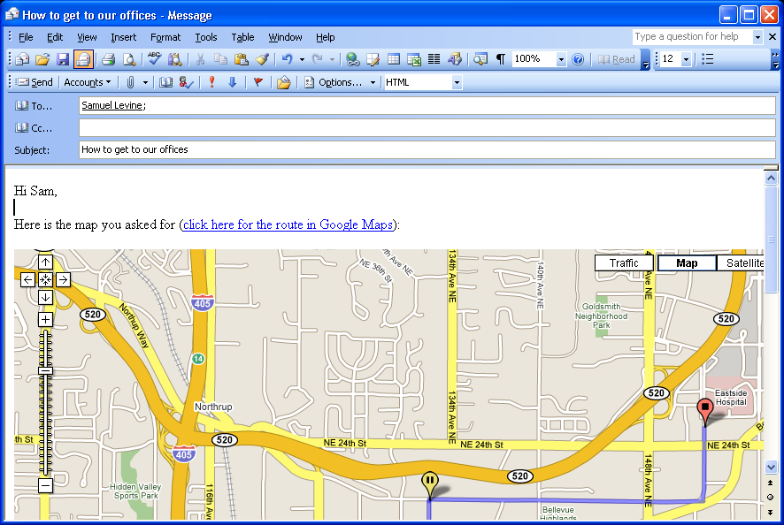 how to create google map in html