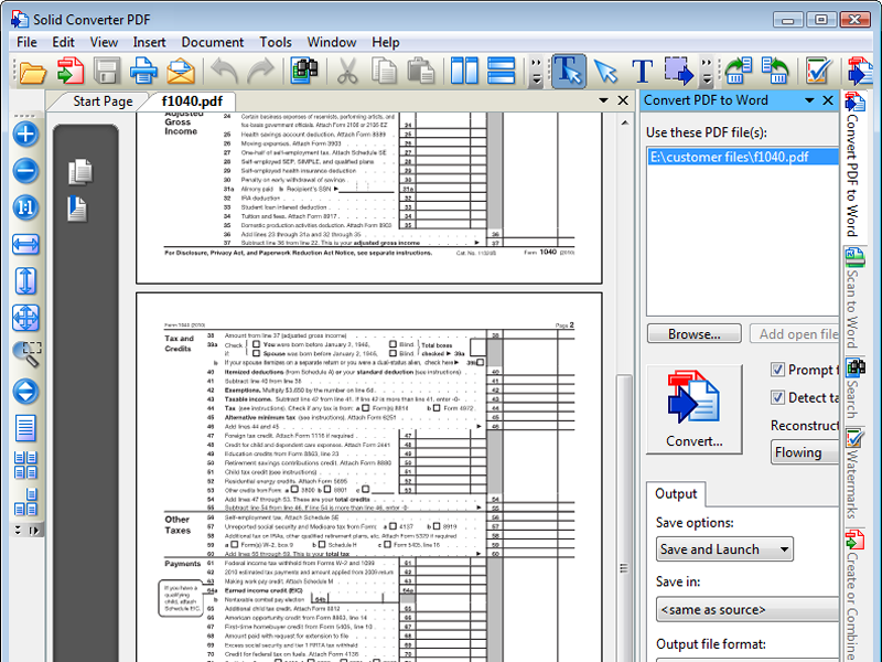 Click to view PDF to Word | Solid Converter PDF 7 screenshot