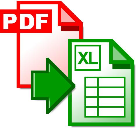 конвертер из pdf в xls