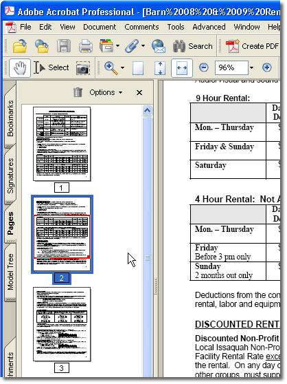 rearrange pdf pages acrobat 10