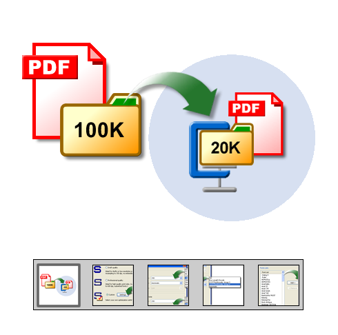 "Klik om te starten ""PDF-optimalisering"" rondleiding door de functies ..."