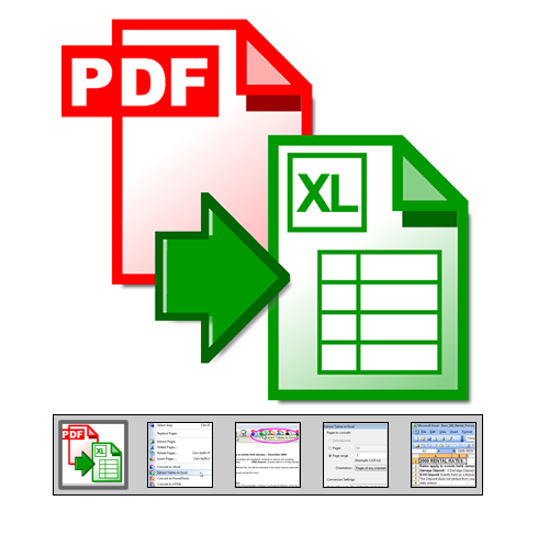 "Click to launch ""PDF to Excel Converter"" feature tour..."
