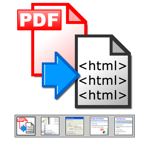"Click to launch ""PDF to HTML Converter"" feature tour..."
