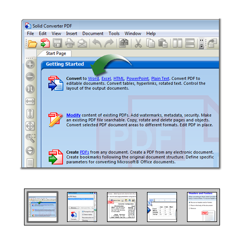"Click to launch ""Konverter PDF til Word"" feature tour..."