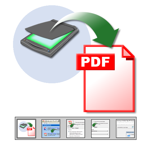 "Click to launch ""Scan to PDF"" feature tour..."