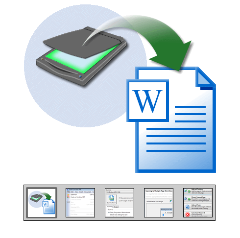 Scan to Word- Scan Paper Documents: PDF/A, Scan to PDF, Searchable PDF