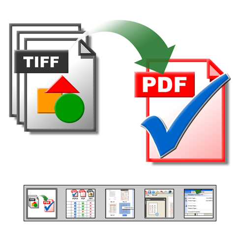 "Click to launch ""TIFF to PDF Conversion"" feature tour..."