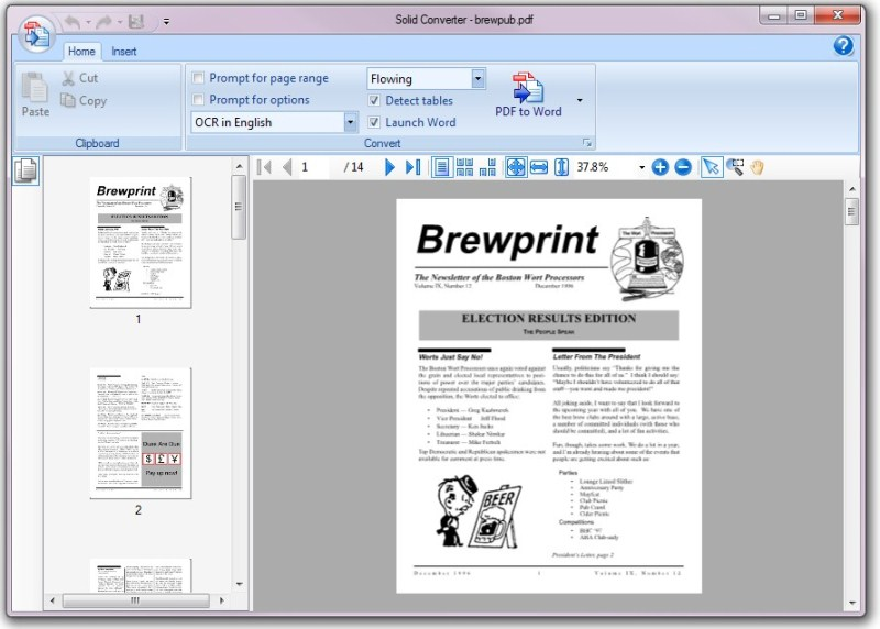 PDF to Word | Solid Converter 8.0 full