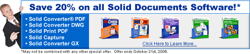 Save 20 percent on all Solid Documents software!