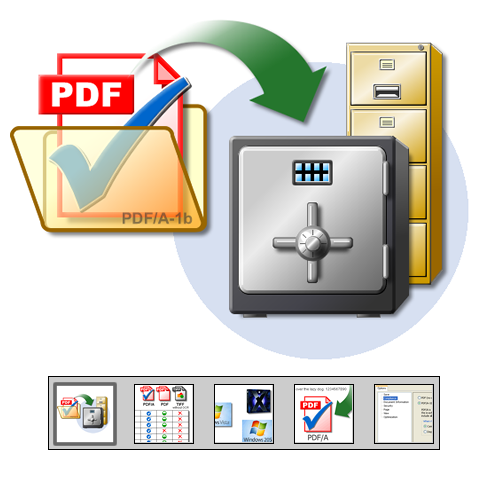 "Click to launch ""PDF/A Archive Format"" feature tour..."