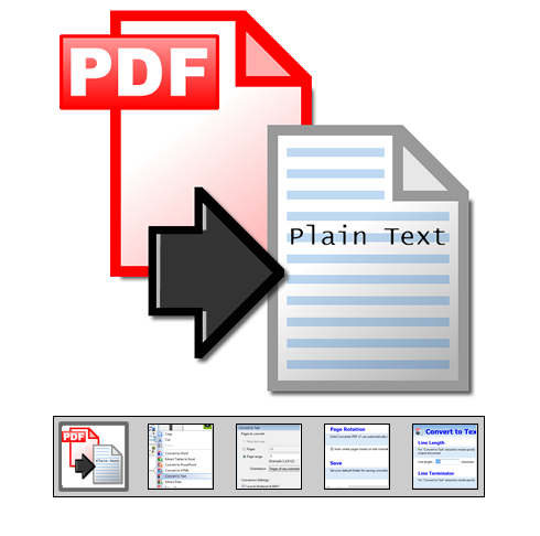 "Click to launch ""PDF to Text Converter"" feature tour..."