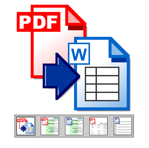 "Click to launch ""Extract Tables from PDF to Word"" feature tour..."