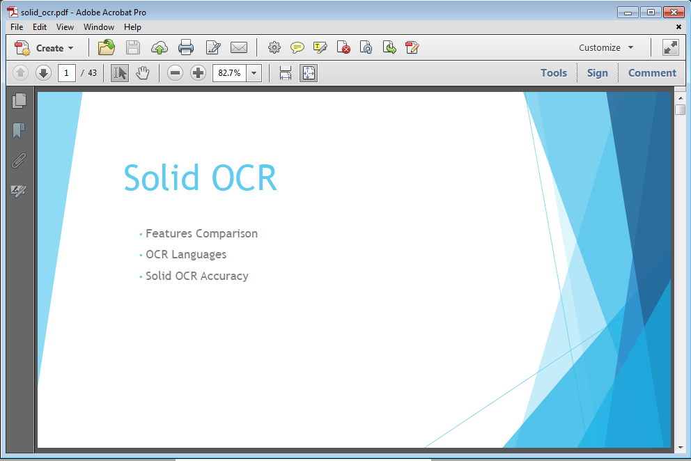 Click here to view the Solid OCR PDF Presentation