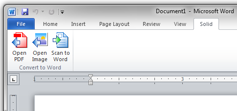 Open PDF files directly into Word.